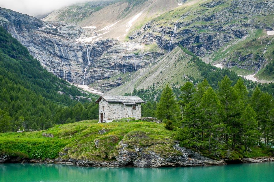 Swiss alps barn