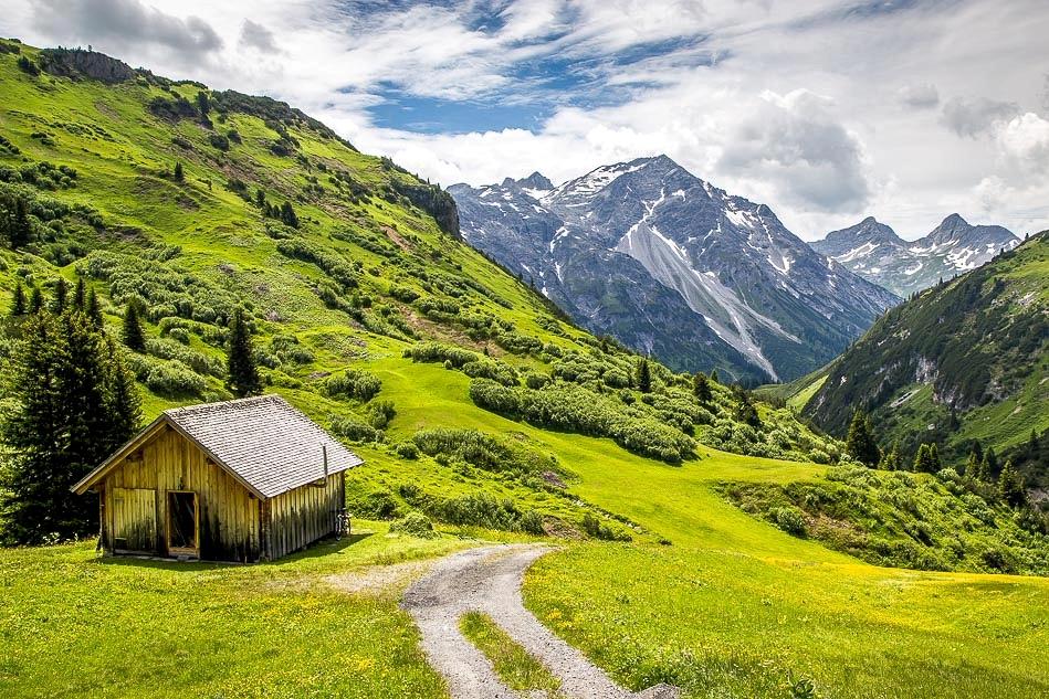 Austrian Alps barn