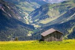 Austrian Alps barn