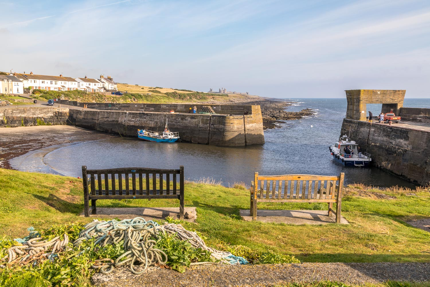 Craster Harbour benches