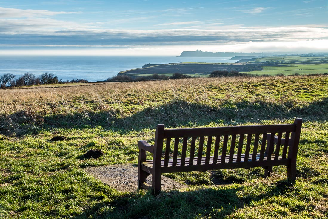 Bench overlooking Scarborough
