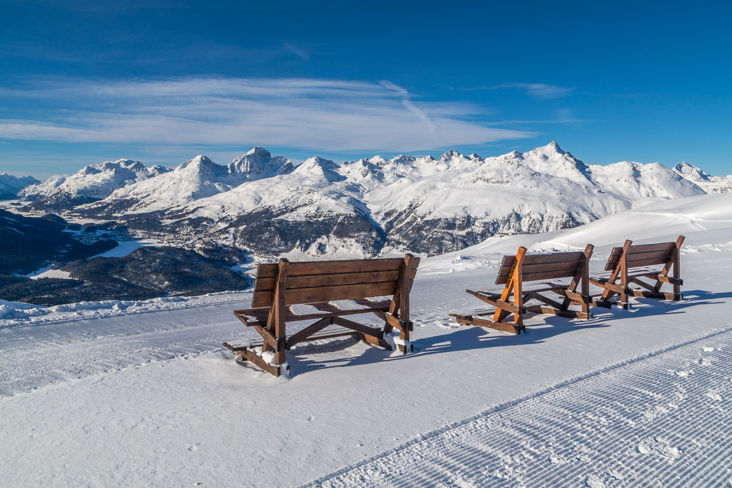 Benches on the Philosophers' Trail, Swiss Alps