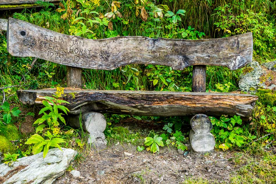 Bench in the Swiss Alps