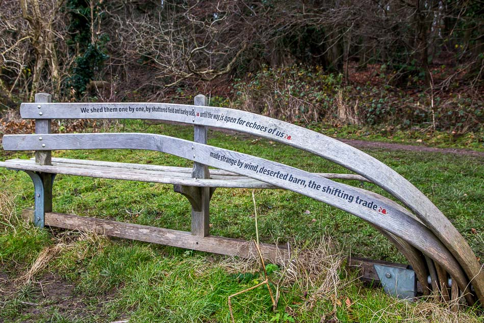 Carved poetry bench, Wolds Way