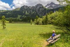 Bench at Lauenensee, Bernese Oberland