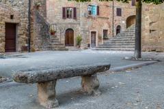 Stone bench, Monticchiello, Val d'Orcia