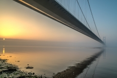 The Humber Bridge at dawn