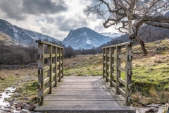 Footbridge facing Fleetwith Pike