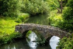 The Dorothy Vernon bridge over the River Wye