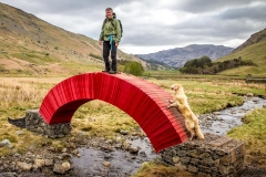 Temporary paper bridge by artist Steve Messam in the Grisedale Valley