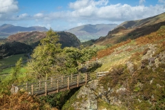 Footbridge over Stanah Gill near Thirlmere