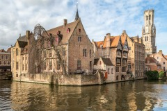 The Belfry, from the Quay of the Rosary (Rozenhoedkaai), Bruges