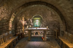 Ancient crypt in St Mary's Church Lastingham