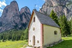 St Sylvester's Chapel, Pra da Rie,  Dolomites