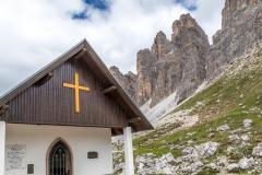 Commemorative chapel, Tre Cime, Dolomites