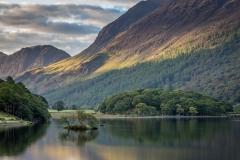 Woodhouse Island at the head of Crummock Water