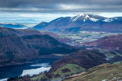 Thirlmere, Skiddaw and Scotland from the path to Hellvellyn