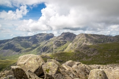 Scafells from Bowfell