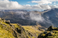 Langdale Pikes from Great Gable