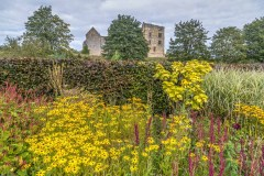 Helmsley Castle from Helmsley Walled Garden