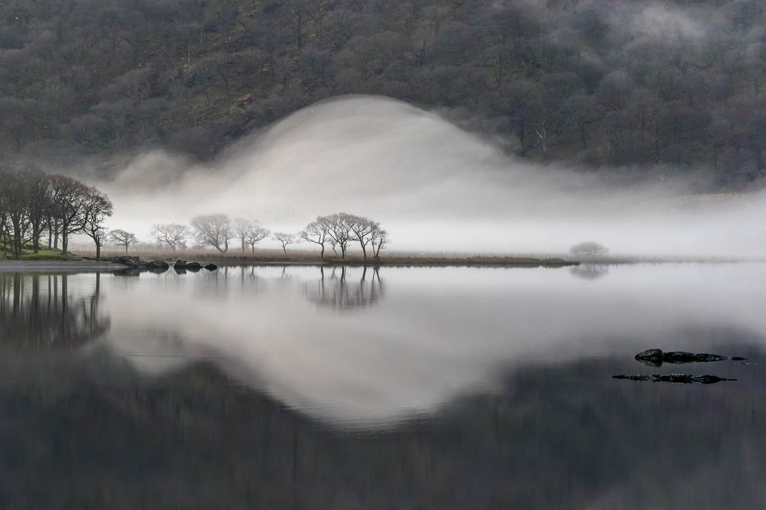 Mist on Crummock Water