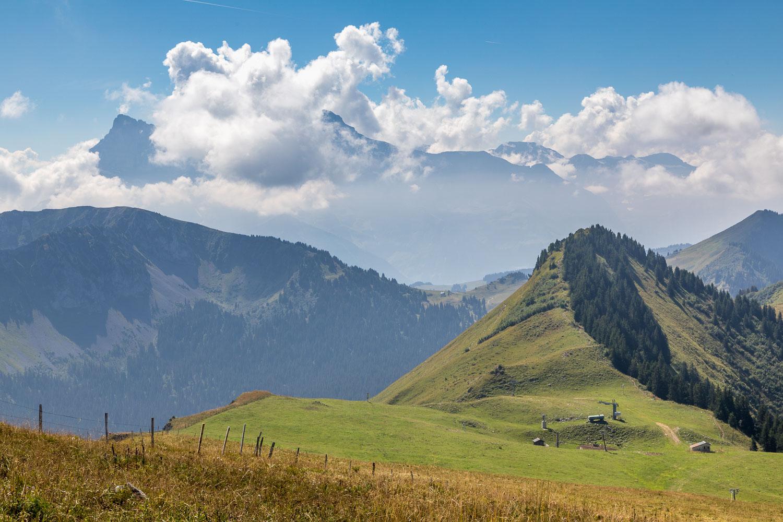 Path along the French/Swiss border, Chablais Alps