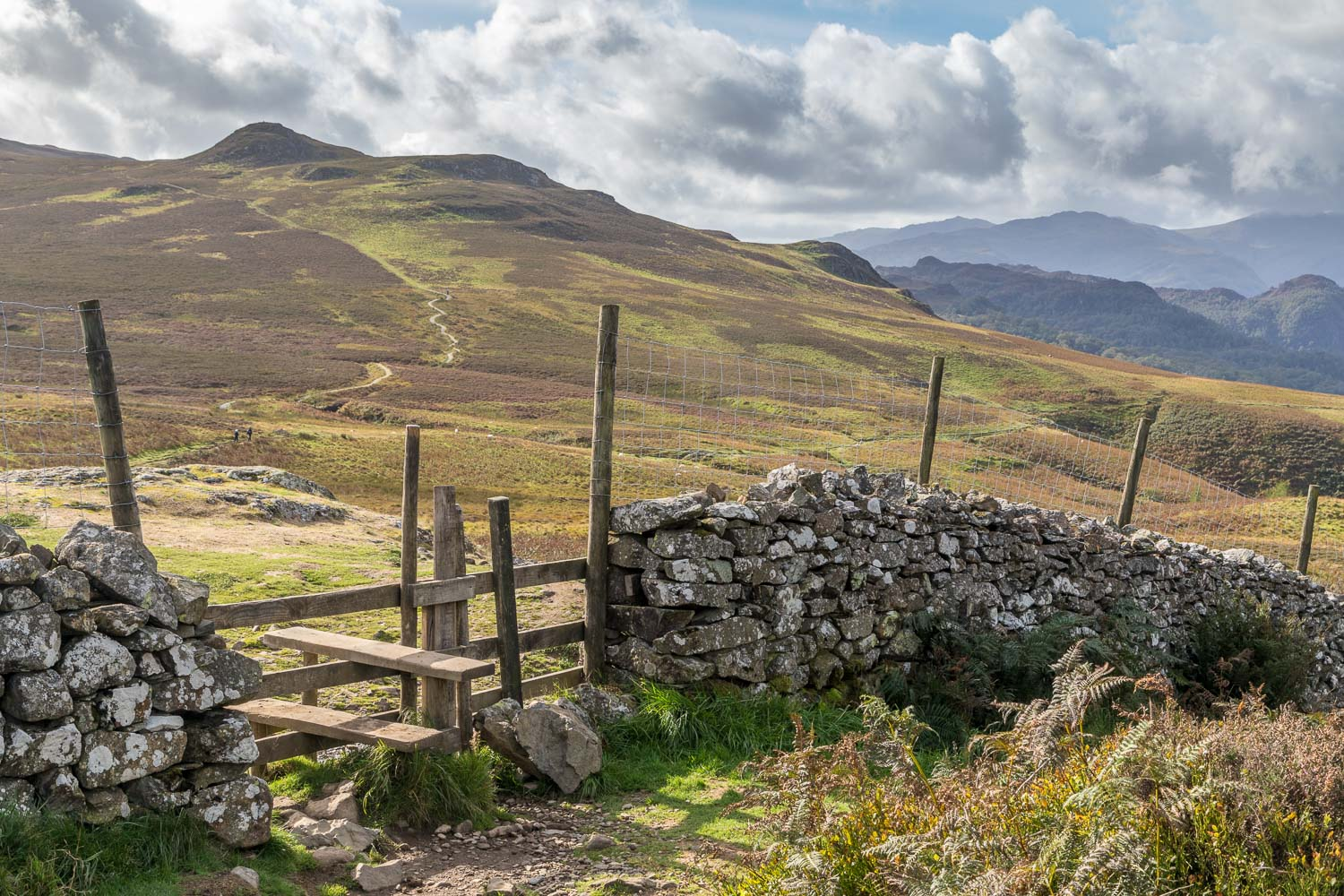 Path from Walla Crag to Bleaberry Fell