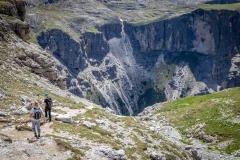 descent from Rifugio Puez, Dolomites