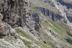 Descending into  Vallunga, Dolomites
