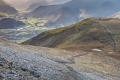 Path from Carl Side to Skiddaw