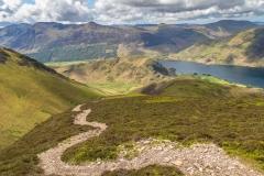 Lad Hows ridge path to Grasmoor