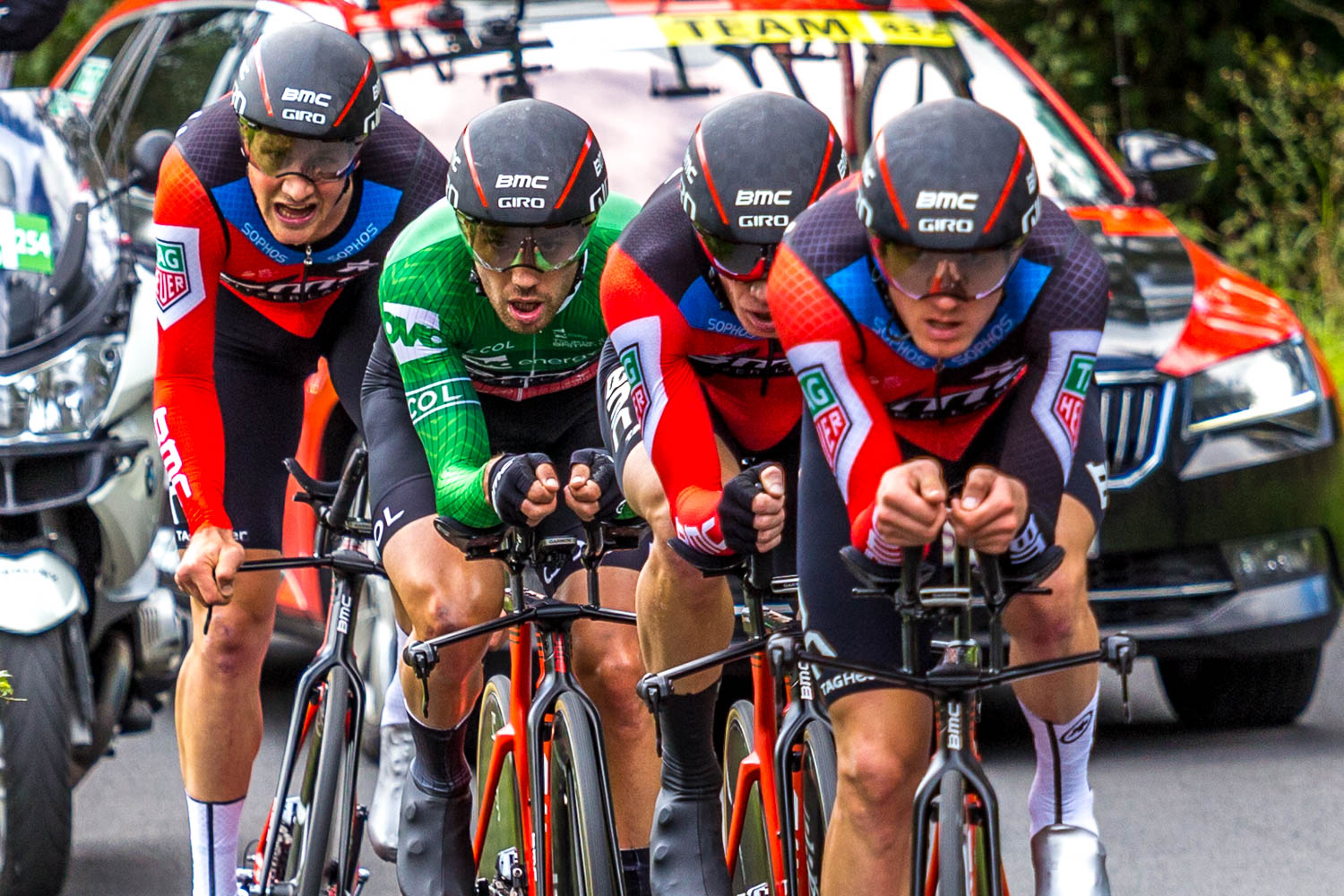 Tour of Britain 2018 on the Whinlatter Pass