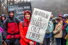 March against zip wires over Thirlmere