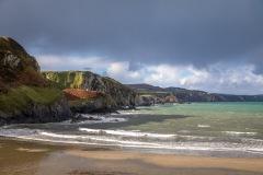 Pwllgwaelod beach, Dinas Island