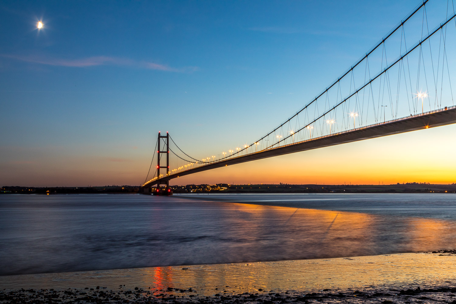 Humber Bridge at sunset