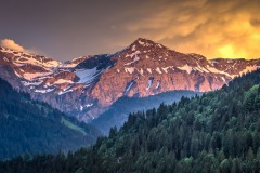 Sunset Upper Simmental Valley, Lenk, Bernese Oberland