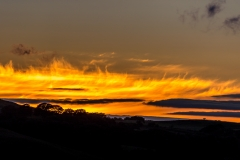 Sky on fire last night above Lorton Vale