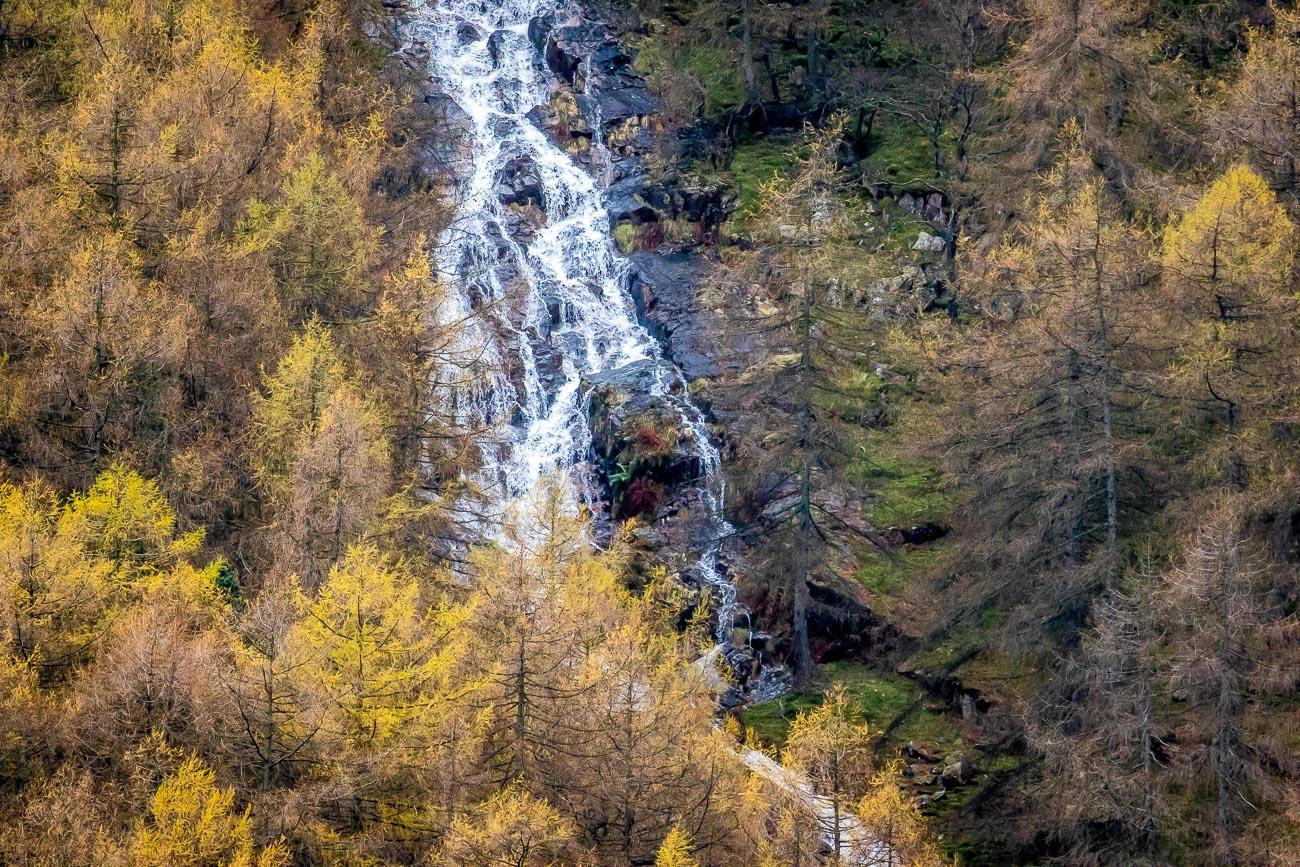 Sourmilk Gill waterfall Buttermere