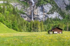 Waterfall near Kandersteg, Bernese Oberland