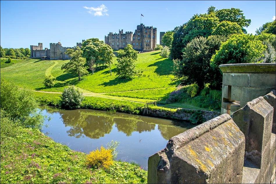 Alnwick Castle from Lion Bridge