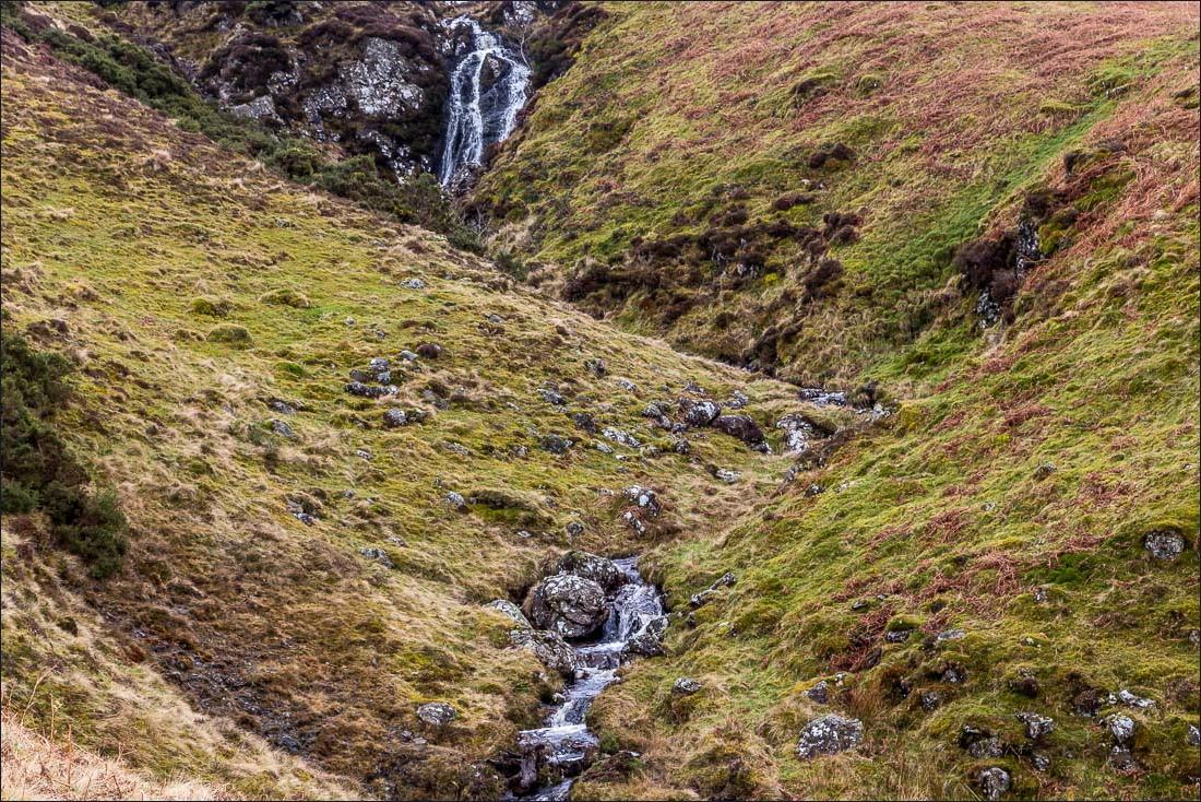 Falcon Crag walk, Lake District, Cat gill waterfalls