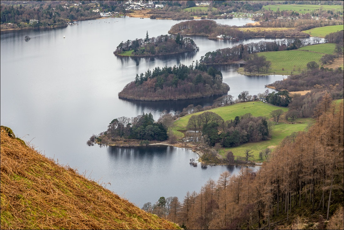 Falcon Crag walk, Lake District, Derwent Water