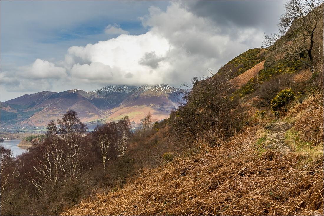Falcon Crag walk, Borrowdale walk, Skiddaw