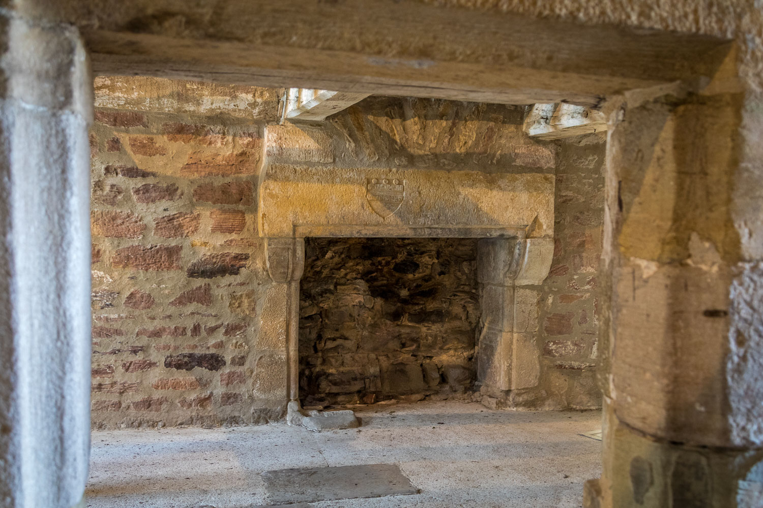 Corbridge walk, Aydon Castle fireplace