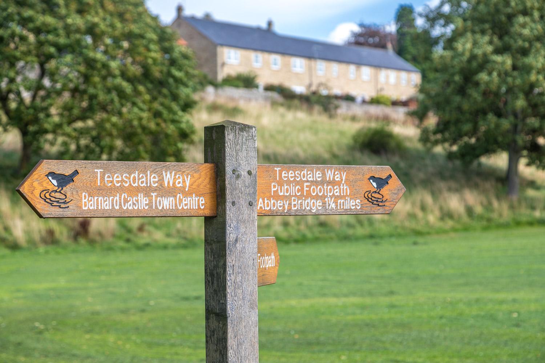Barnard Castle walk, Teesdale Way