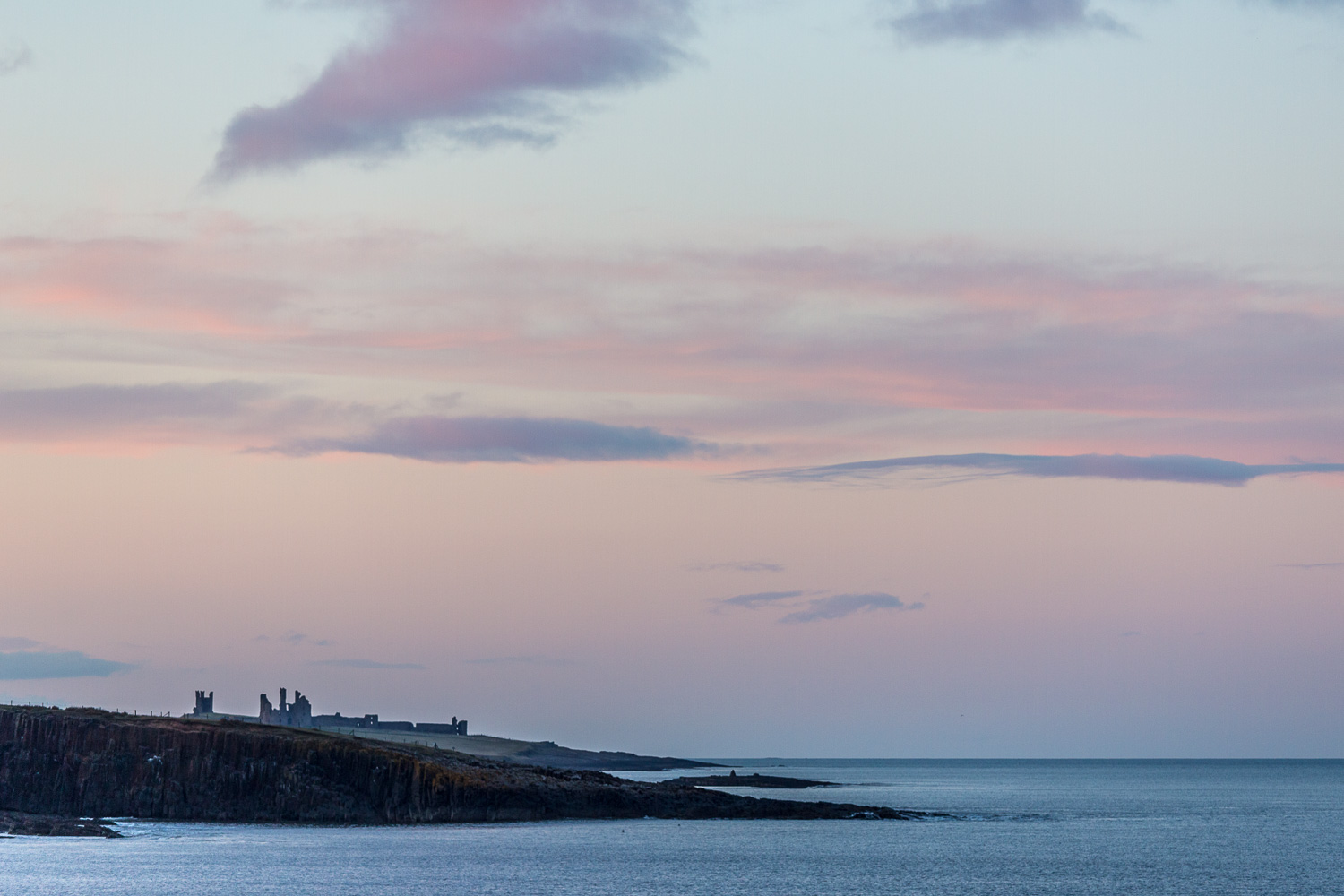 Dunstanburgh Castle, Northumberland coast sunset