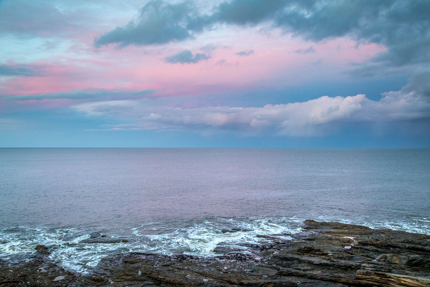 Northumberland coast sunset