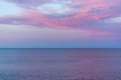 Northumberland coast sunset