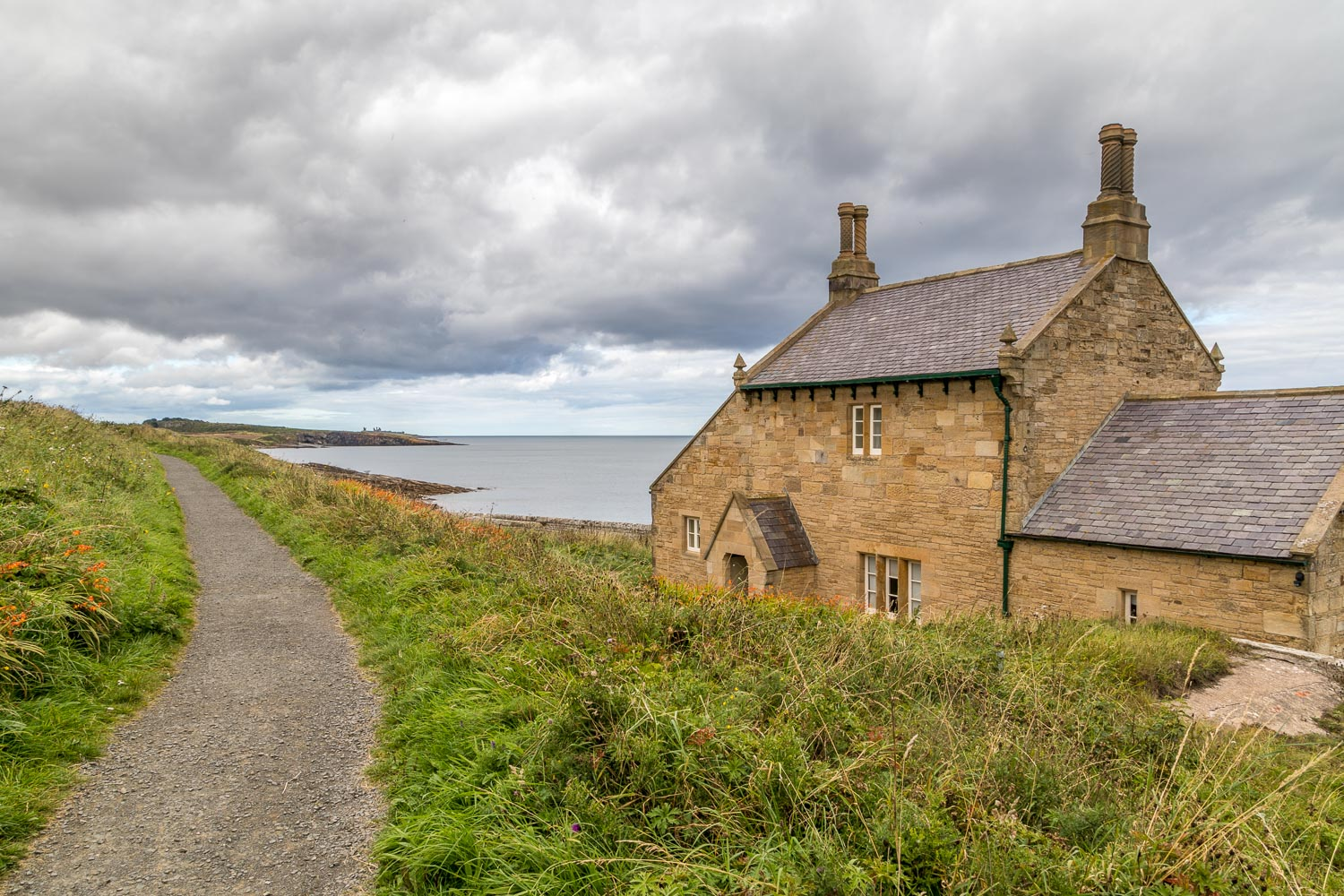 Beadnell walk, The Bathing House