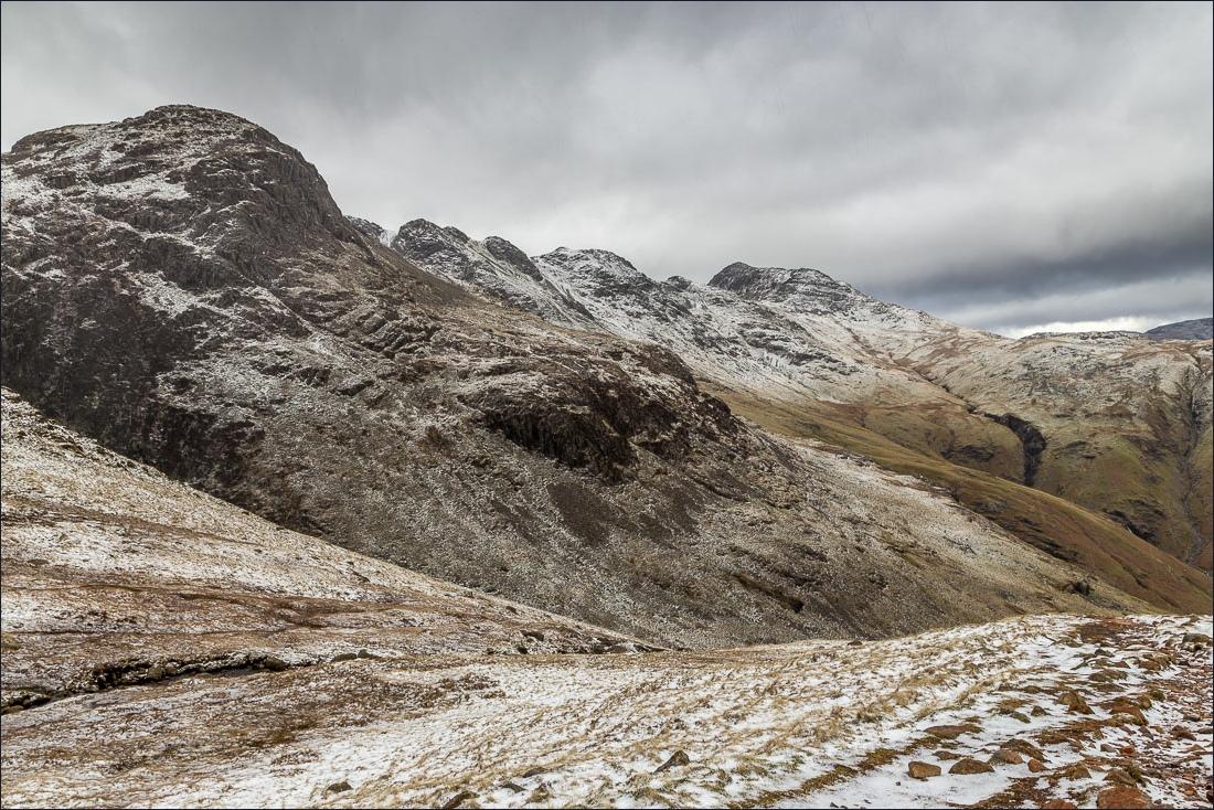 Pike o'Blisco walk, Crinkle Crags, Bowfell